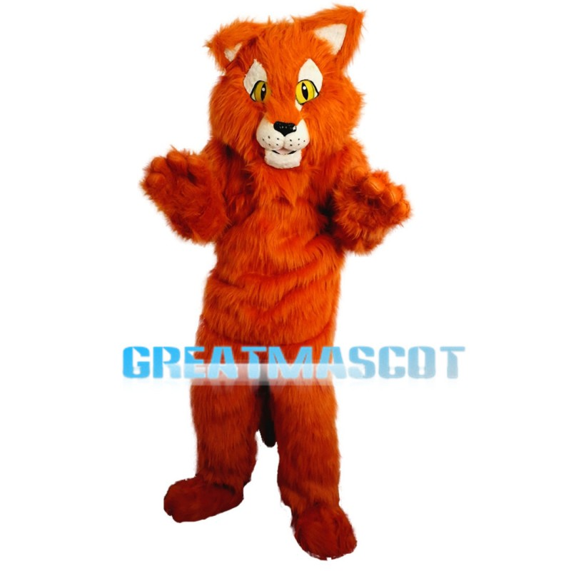 Soft Plush Light Brown Tiger Mascot Costume