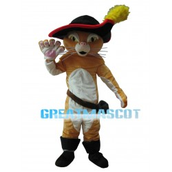 Brave Cat Wearing Sword Mascot Costume
