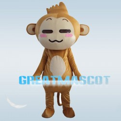Adorable Smiling Monkey Mascot Costume