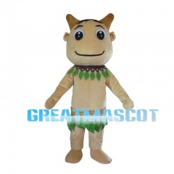 Savage With Leaves Collar Mascot Costume