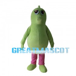 Green Seahorse With Pink Pants Mascot Costume