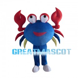 Blue Crab With Red Tongs Mascot Costume