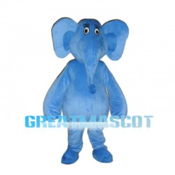 Adult Cartoon Blue Elephant Mascot Costume