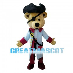 Pirate Captain Bear Mascot Costume