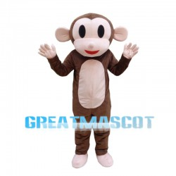 Cartoon Brown Monkey Mascot Costume