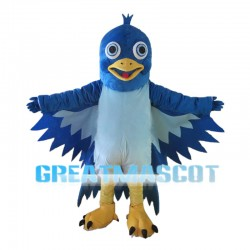 Flying Blue Bird Mascot Costume