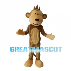 Naughty Monkey With Long Tail Mascot Costume
