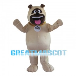 Big Mouth Khaki Dog Mascot Costume