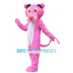 Pink Tiger With Red Nose Mascot Costume