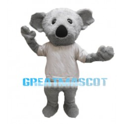 Adult Plush Grey Koala Mascot Costume