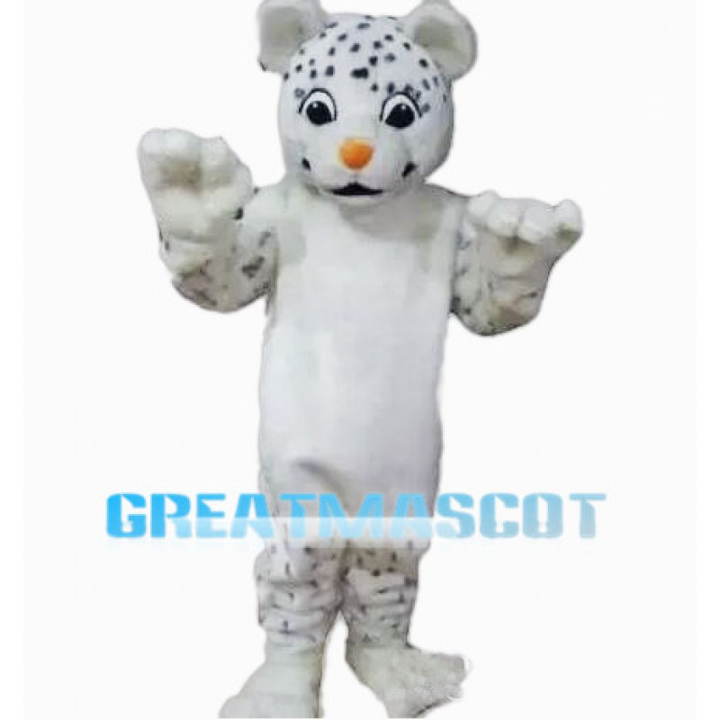 Cute Baby Snow Leopard Mascot Costume