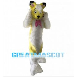 Yellow Fox Plush Mascot Costume