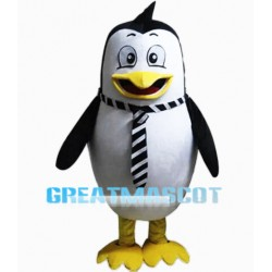 Cartoon Penguin Mascot Costume With A Tie
