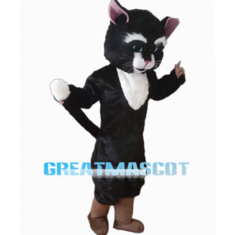 Classic Black Cat Mascot Costume