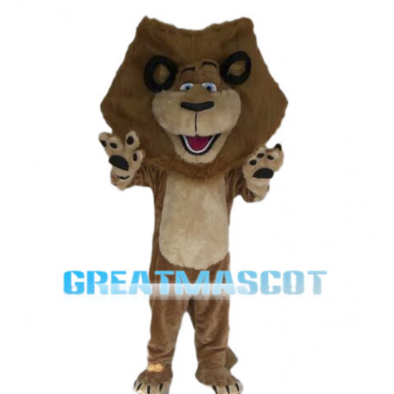 Proud Alex The Lion Mascot Costume