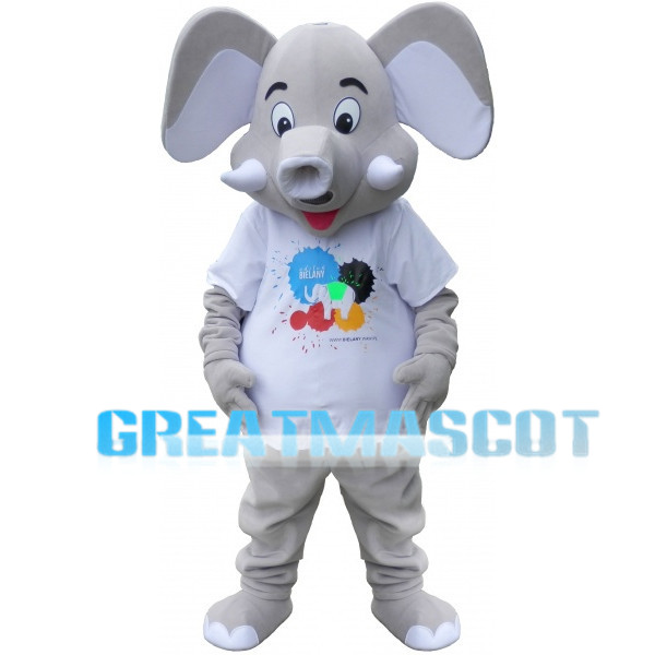 Cute Grey Elephant Lightweight Mascot Adult Costume