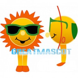 Cartoon Sun With Sunglasses Lightweight Mascot Adult Costume