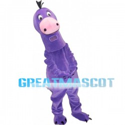 Purple Lizard Mascot Adult Costume