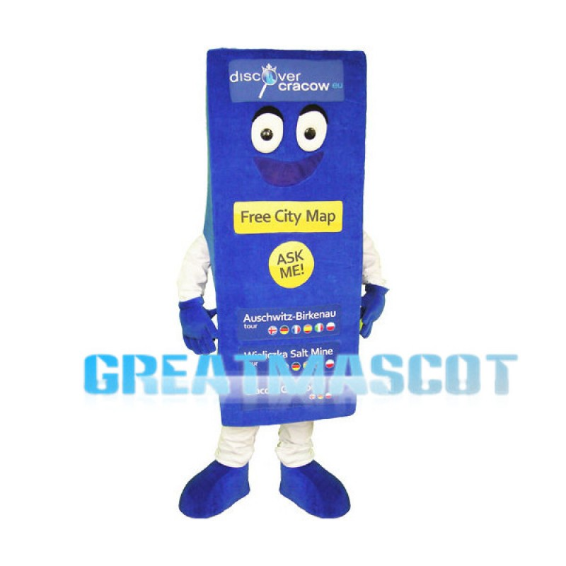 Free City Map Lightweight Mascot Adult Costume