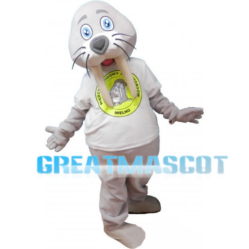 Lovely Grey Walrus Mascot Adult Costume