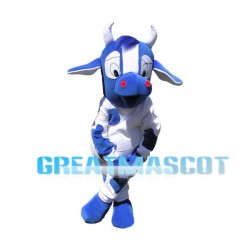 Blue Cow Mascot Adult Costume