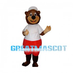 Sport Brown Bear Mascot Adult Costume