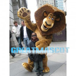 New Custom Made Brown Lion Mascot Costume