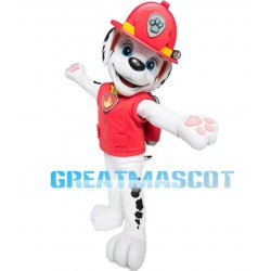 Adult Cartoon Red PAW Patrol Marshall Mascot Costume