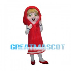 Masha And The Bear Mascot Costume Cartoon Character
