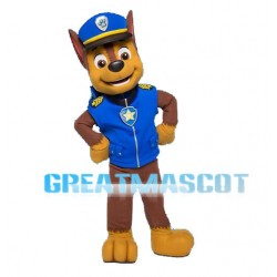 Adult Cartoon Blue PAW Patrol Chase Mascot Costume