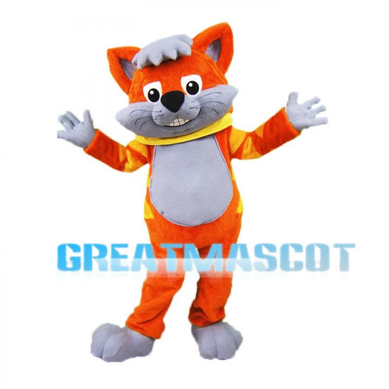 Cute Orange Cat Mascot Adult Costume