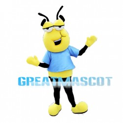 Cartoon Yellow Ant Mascot Adult Costume