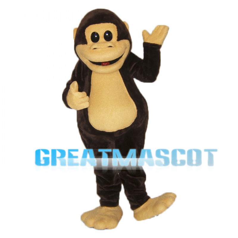 Lovely Brown Monkey Mascot Adult Costume