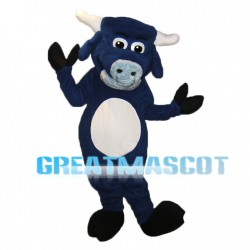 Royal Blue Buffalo Mascot Adult Costume