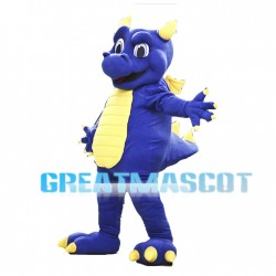 Purple & Yellow Flying Dinosaur Mascot Adult Costume