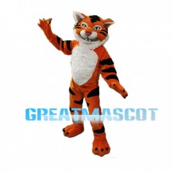 Fierce Plush Tiger Mascot Adult Costume