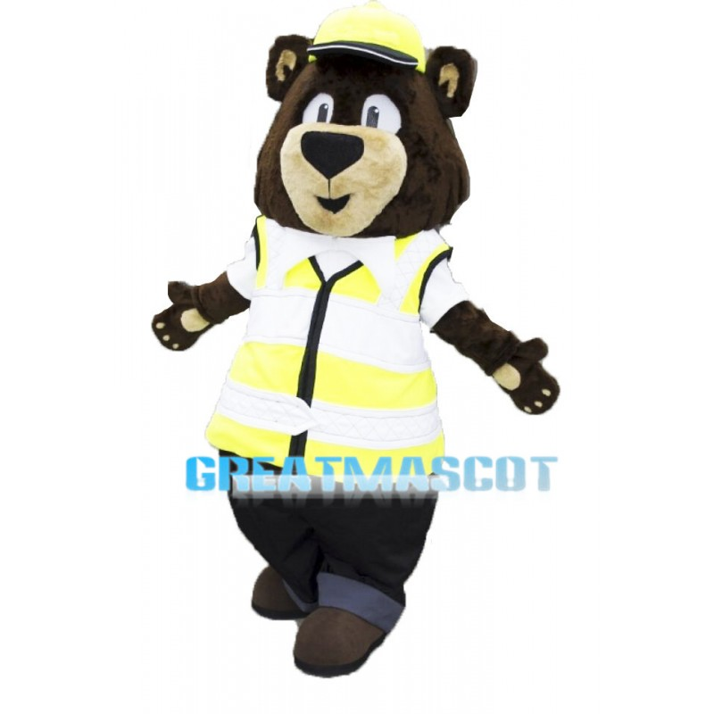 Carl Bear Social Worker Mascot Adult Costume
