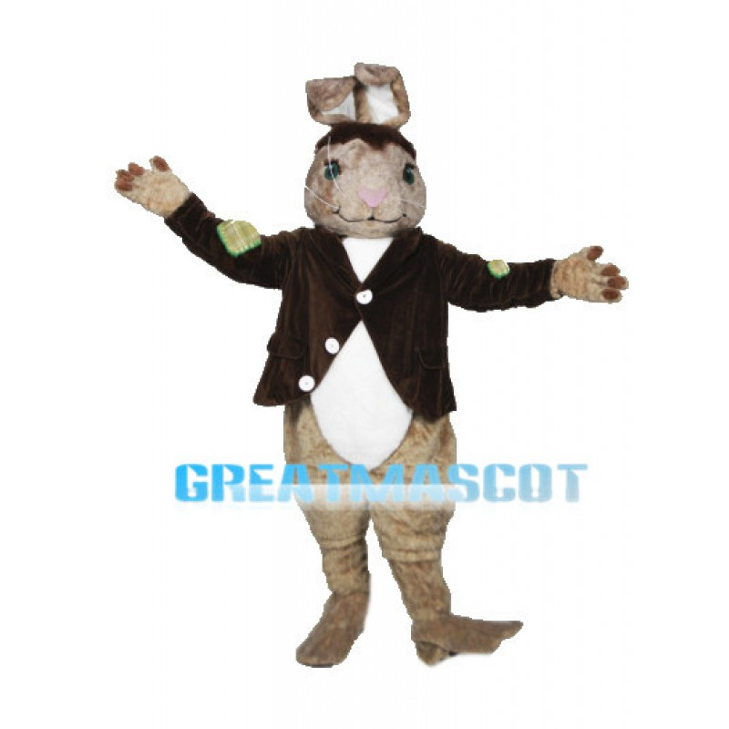 Patches The Rabbit Mascot Adult Costume