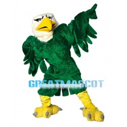 Green Falcon Mascot Adult Costume