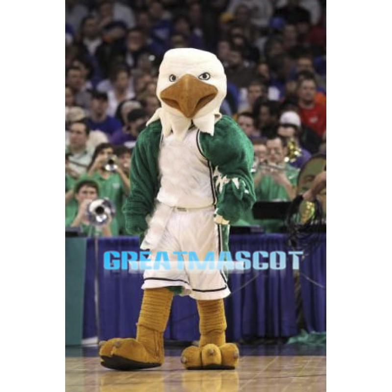 College Basketball Green Power Eagle Mascot Adult Costume