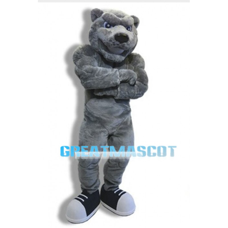 Fierce Power Gray Bear Mascot Costume