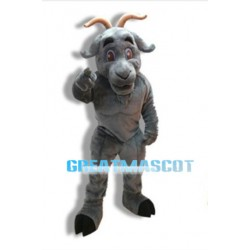 University Power Gray Goat Mascot Costume