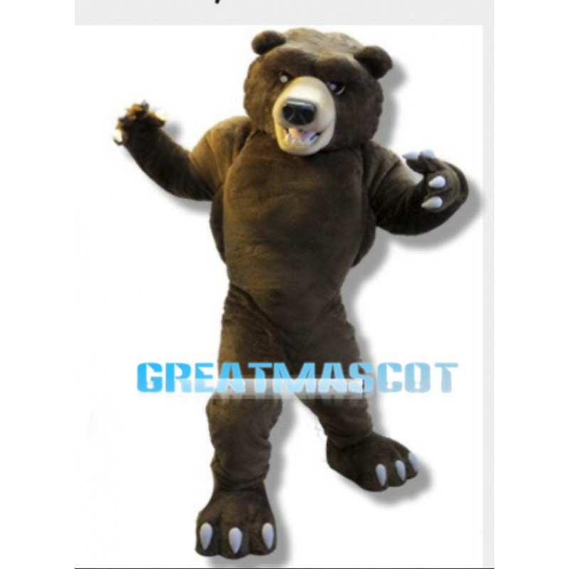 Fierce Power Grizzly Bear Mascot Costume