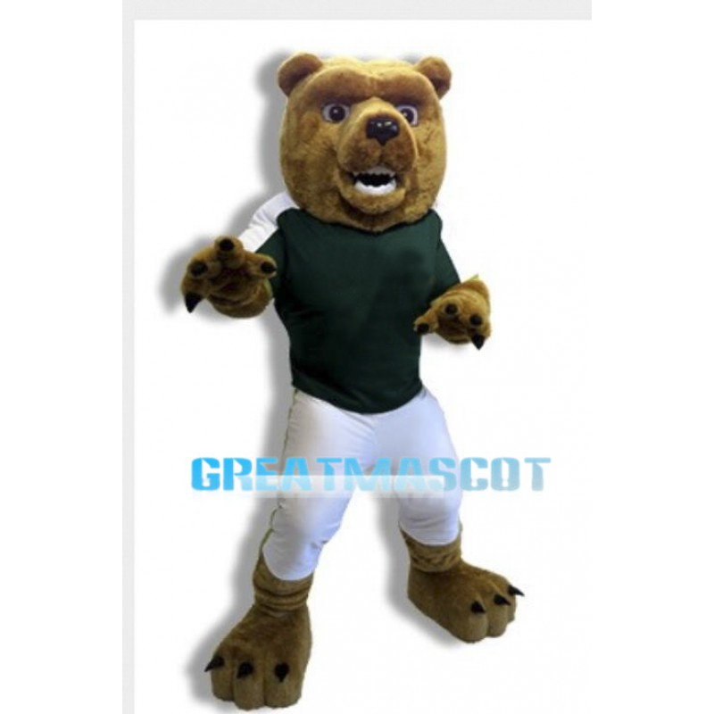 College Power Bear Mascot Costume