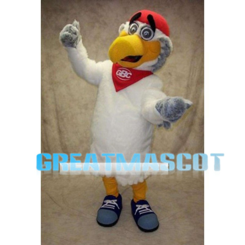 Adult Cartoon Hawk Mascot Costume