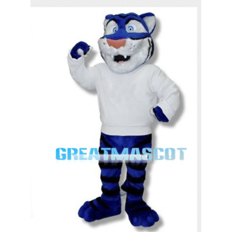 University Blue Tiger Mascot Costume
