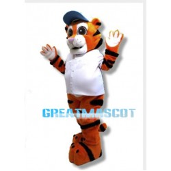 Friendly Tiger Mascot Adult Animal Fancy Dress Costume