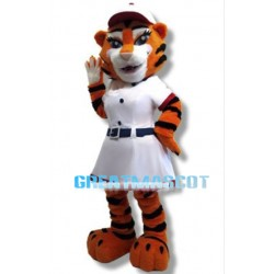 Pretty Tigress Mascot Adult Animal Fancy Dress Costume