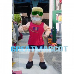 Sportsman With Blond Hair Mascot Costume