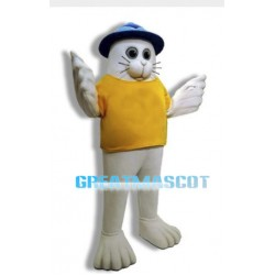 White Seal Mascot Adult Animal Fancy Dress Costume